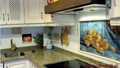 Fertiges #Fliesenbild in der #Küche, garantiert ein Highlight!