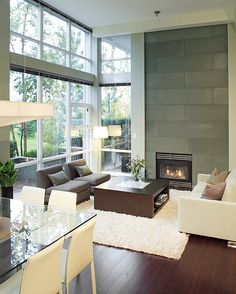 Living room fireplace tile