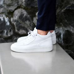 """Now don't nothing get the hype on first sight like white on white""  Nelly. The Grand White is available in sizes 36-45. Hand crafted with ultra soft Italian grain leather and they come with a gel-layered in-sole for extreme comfort. Whatsapp us with any questions (phone number in bio) or click the link in bio to shop. #merceramsterdam #amsterdam #nyc #sneakers #sneakerhead by merceramsterdam"