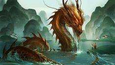 dragón chino DRAGÓN:animal mitológico con diversas formas en varias culturas en todo el mundo,con diferentes simbolismos asociados.Se le representa como una gran serpiente o lagarto escamado(o emplumado en América),parecido a un cocodrilo,provisto de alas de murciélago,y/o que escupe fuego por la boca,por lo que en Occidente suele adoptar la forma de un clásico monstruo con grandes garras e inmensa cola.