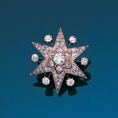 A late 19th century diamond star brooch, circa 1880.