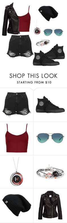 """TOP"" by denise-gustin9 ❤ liked on Polyvore featuring Topshop, Converse and Tiffany & Co."