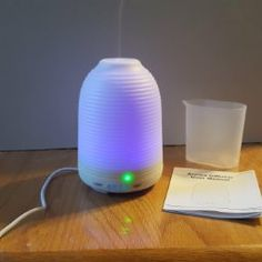 Essential Oil Diffuser will power off and stop working after the water uses up. Carry out the power cord from the bottom side of the diffuser can ensure the device stability. Aromatherapy Diffuser Spark Your Kid's Imagination with 7 Changing Mood Lights, each of which is adjustable between Bright and Dim modes, and could be set steady on. Great night light for young children scared of the dark at bedtime.