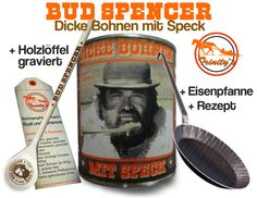 Bud Spencer Terence Hill Dicke Bohnen mit Speck Fan Set Eisenpfanne NEU | eBay