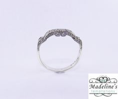 White Gold ring with side detail. White Gold Rings, Bands, Wedding Rings, Detail, Bracelets, Silver, Jewelry, Jewlery, Money