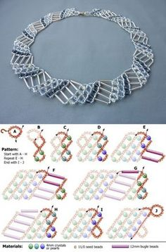 FREE beading pattern for necklace Diagonal Net