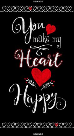 You Make My Heart Happy Fabric Panel by Timeless Treasures 24 Inch Sunflower Fabric quilt panel Happy Quotes About Him, Make Me Happy Quotes, You Make Me Happy, Love Quotes For Him, Husband Quotes, Love You So, Girlfriend Quotes, Love Heart Images, Love You Images