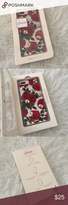 Sonix red rose case. Red floral bee case. Floral New in box red rose with bees case from Sonix. Never used. Fits iPhone 6/6s Plus and 7 Plus Sonix Accessories Phone Cases