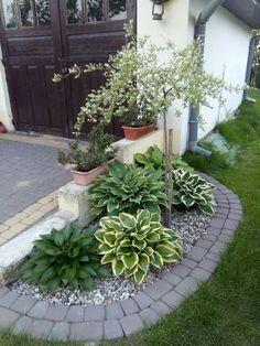 Small Front Yard Landscaping Ideas with Rocks . Small Front Yard Landscaping Ideas with Rocks . Cheap Landscaping Ideas, Small Front Yard Landscaping, Front Yard Design, Backyard Landscaping, Landscaping Images, Backyard Ideas, Porch Ideas, Corner Landscaping, Natural Landscaping
