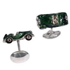 DEAKIN & FRANCIS Silver Classic Car MG Cufflinks | From a unique collection of vintage cufflinks at http://www.1stdibs.com/jewelry/cufflinks/cufflinks/