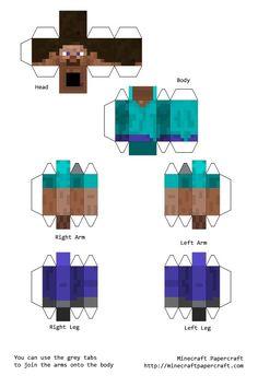 Minecraft en papel(papercraft)