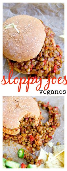 Receta de sloppy joes veganos, super rica, fácil y perfecta para toda la familia.
