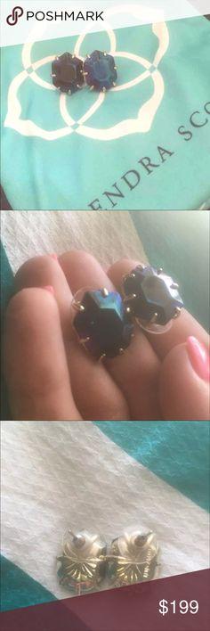 🎉 eucKendra Scott HTF Black iridescent Morgan's🎉 Rare HTF Kendra Scott Morgan's Kendra Scott Jewelry Earrings