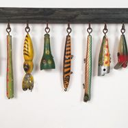 Lost Found Art - Antique Fishing Lure Display