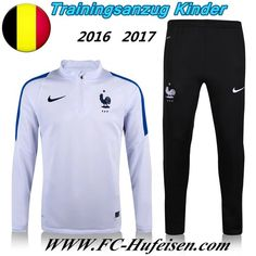 Schönsten Neue Fußball Trainingsanzug Frankreich Kinder Kits Weiß 2016 2017 Meaney