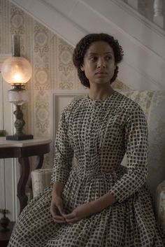 "Actress Gugu Mbatha-Raw felt larger forces at work while visiting the gravesite of the former slave she plays in ""Free State of Jones. Sissi, Free State Of Jones, Victorian Fashion, Vintage Fashion, Period Costumes, Movie Costumes, Black Love, Historical Clothing, Fashion History"