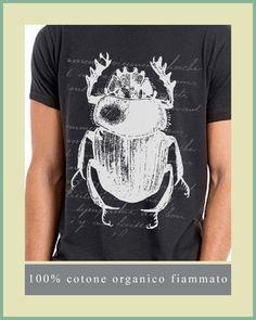 T-SHIRT UOMO COTONE ORGANICO STEAMPUNK SCARABEO VINTAGE HIPSTER SLUB FIAMMATO | Abbigliamento e accessori, Uomo: abbigliamento, T-shirt | eBay!