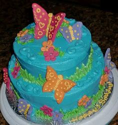 Butterflies Theme - Cake