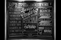 [Diseño Gráfico] Tipografía en tiza para Barrio Costero x Jocelyn R.