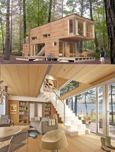 35 Awesome Genius Shipping Container Home Design Ideas Tiny House Design Awesome Container design Genius Home ideas Shipping Modern Tiny House, Tiny House Design, Modern House Design, Building A Container Home, Storage Container Homes, Cargo Container Homes, Minimalist House Design, Minimalist Home, Shipping Container Home Designs