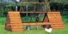 chicken tractor - Lots of different ideas for building a chicken tractor.  I would love to do this!!