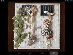"""Afbeelding """"Bengels"""", van Marij Radher. Kaart is van Nel knip's kaartenmakerij."""