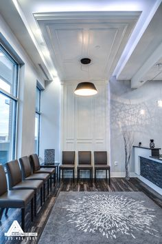 Paneled Drop-down Ceilings. Dental Office Design by Arminco Inc.
