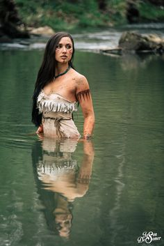 Pocahontas in the water by desomerphotography.deviantart.com on @DeviantArt - Uploaded by the photographer