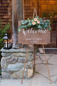 Wedding Welcome Sign Welcome sign Wedding Wood Welcome Sign Wedding signs Wood Wedding Sign Wooden Wedding Signs Wood Rustic Wedding Wooden Welcome Signs, Wedding Welcome Signs, Wooden Signs, Wooden Wedding Signs, Rustic Wedding, Church Wedding, Fall Wedding, Engagement Presents, Ceremony Signs