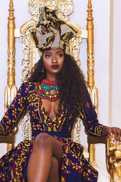 """afrikanische frauen Why Lie? Tyrese Tries to Reinvent The Notion of a """"Black Queen"""" and His """"Black Queen"""" Ain't Even Here For It - Lisa a la mode Black Power, African Attire, African Dress, African Outfits, African Wear, Black Girls Rock, Black Girl Magic, Black Girls Outfits, African Beauty"""