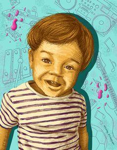 Funny boy Funny Boy, Boys, Illustration, Painting, Art, Baby Boys, Art Background, Painting Art, Kunst