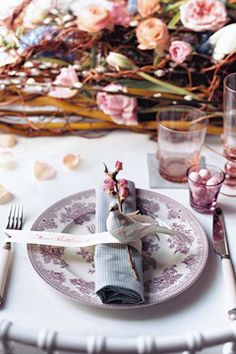 Sweet spring place setting