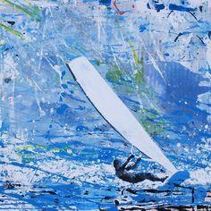 Melanie McDonald — Windsurfer - Mistral Blowing France Watercolor Sea 5af27741473