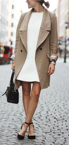 Blazer mantel kurz camel