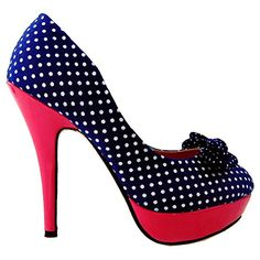 49496193f769a Online Shopping eXperts: Shoes: Show Story Womens Hot Polka Dots Bow High  Heel Platform