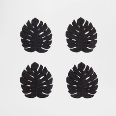 Zara Home - Black Palm Leaf Coasters