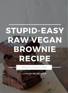 My raw vegan brownies are so delicious (and super easy). You can me them 100% vegan or add some honey to boost immunity (who doesn't want that?!) Recipe here: