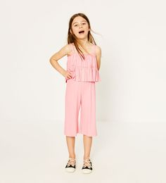 ZARA - KIDS - STRAPPY RIBBED JUMPSUIT