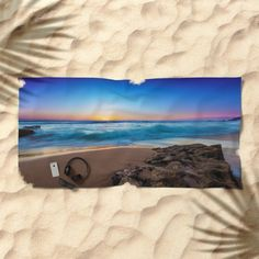A Day At The Beach Beach Towel by Mixed Imagery | Society6