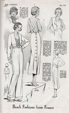 Vintage 1933 Mabs Fashions Fashion Catalog and Knit Sweater Pattern U K | eBay  'Missing' back with straps