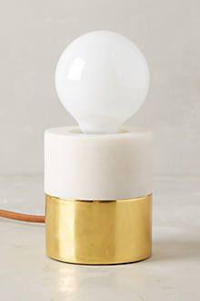 Flameless Pillar Lamp Base by anthropologie