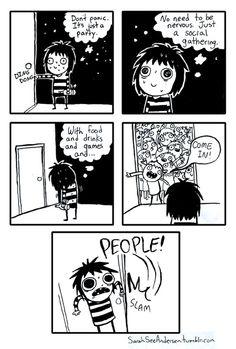 Socially awkward people