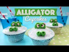 Alligator Cupcakes Tutorial