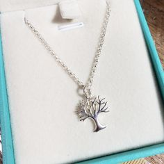 New addition to my shop - sterling silver family tree necklace