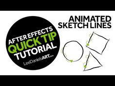 After Effects Tutorial | QUICK TIP | Animated Sketch Lines - YouTube