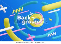 Vector background with bright colors and minimalistic shapes