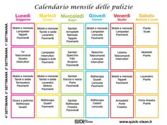it wp wp-content uploads 2015 06 calendario-delle-pulizie-. Home Hacks, Diy Hacks, Cleaning Hacks, Home Binder, Ideas Para Organizar, Flylady, Desperate Housewives, Home Management, Day Planners