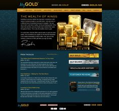 MyGold's home page