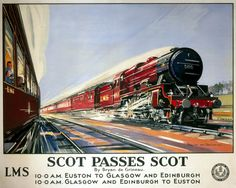 Vintage UK Railway Poster,,feb16