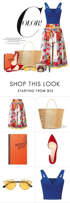 """""""Untitled #1"""" by nikkisto ❤ liked on Polyvore featuring Dolce&Gabbana, Sensi Studio, Louis Vuitton, Shoes of Prey, Christian Dior and Miss Selfridge"""